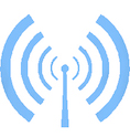 2 Antenna Broadcast Blue